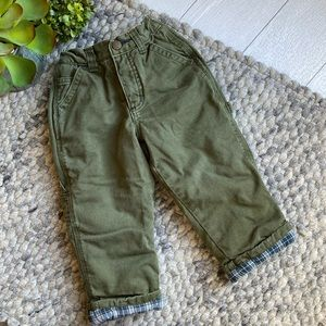 🧁Old Navy boys lined green carpenter pants